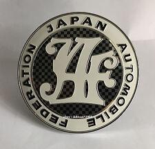 JAF JAPAN JDM DATSUN TOYOTA MAZDA HONDA DAIHATSU JAF CARBON LOGO EMBLEM BADGE