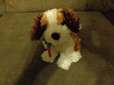 VINTAGE 1998 THE TWELVE DOGS OF CHRISTMAS ST. BERNARD PUP DOG PLUSH DOLL FIGURE