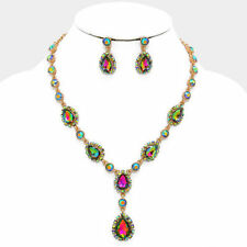 VITRAIL MEDIUM CRYSTAL  BRIDAL / PROM ELEGANT  NECKLACE / EARRING SET a101mS e5