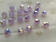 30 Swarovski #5000 6mm Crystal Violet Opal AB Faceted Round Beads