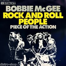 """7"""" BOBBIE McGEE Rock And Roll People / Piece Of The Action EMI Glam-Rock D 1973"""