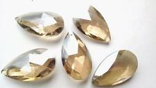 5 Champagne Teardrop Chandelier Wedding Crystals 50mm Almond Prisms Pendant