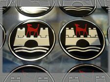"VW WOLFSBURG 2-½"" ROAD WHEEL CENTER CAP LOGO DECALS PAIR"