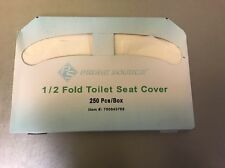 Prime Source 1/2 Fold Toilet Seat Covers 250 Count~FREE SHHIPPING ~