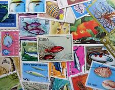100 Thematic Fish & Marine Stamps Mainly CTO/Mint Unmounted Singles & Sets