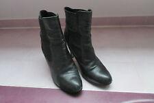 1696:bottes cuir doublées t40 André mpc28