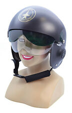 Jet Pilot Helmet Hat Accessory for 80s Hot Gun Top Shots Fancy Dress Hat