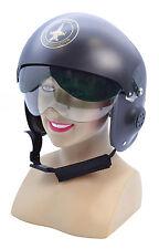 Jet Pilot Helmet Sombrero Accesorio para tomas superior de pistola de caliente 80s Vestido Elegante Sombrero