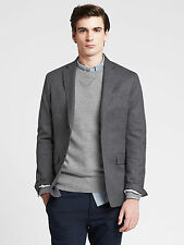 NWT Banana Republic Men's Tailored Textured Blazer Color Gray Size 38S