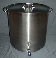 26 Gal Stainless Kettle 104 Qt Stock Pot Home Brewing Beer Wine Cider Mead SS