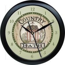 Personalized Country Bath Wall Clock Bathroo Decor Gift