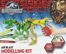 JURASSIC WORLD - AIR BLAST MODELLING KIT - BUILD YOUR OWN DINOSAUR FUN KIDS GIFT