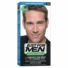 Just For Men Mens Shampoo In Permanent Hair Colour Dye LIGHT MEDIUM BROWN H30