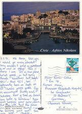 1991 AGHIOS NIKOLAOS CRETE GREECE COLOUR POSTCARD