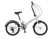 """Viking Citifold Unisex 20"""" Wheel 6 Speed Folding Folder Bike Bicycle White MTF16"""