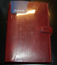 New! Filofax Lockwood Leather Personal Planner Organizer A6 Garnet Dark Red