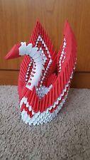 3D Handmade Origami Valentine White & Red Beautiful Swan