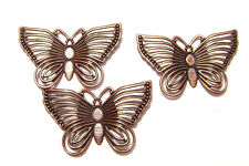 8509FX Drop Component Charm Filigree Butterfly Brass Silver Gold Gunmetal, 12 Qy