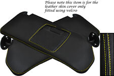 YELLOW STITCHING FITS SUZUKI VITARA 1988-1998 2X SUN VISORS LEATHER COVERS ONLY