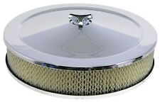 HOLLEY 14inch X 3inch Chrome Air Cleaner Suits Holley and 5 1/8 neck Carbies