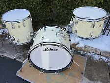 LUDWIG CLASSIC MAPLE DOWN BEAT DRUM SET KEYSTONE VINTAGE WHITE MARINE PEARL