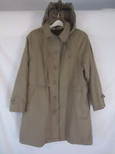 London Fog Limited Brown Belted Hooded Lined Trench Coat Jacket Women's 8 - SR66