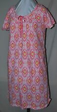 STAN HERMAN SO COMFY 100% COTTON PEACH NIGHT GOWN PAJAMAS ROOMY POCKETS M/L