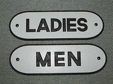 Vintage Retro Style Ladies & Men Black & White Restroom Signs Set