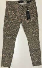 Guess Brittney Skinny Ankle Leopard Overdrive Destroy Juniors Cotton Blend Jeans