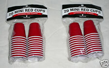 40 Drinkmate Mini Red Cups Disposable Plastic Shot Glasses Party Drink