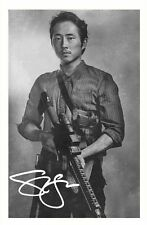 STEVEN YEUN - THE WALKING DEAD AUTOGRAPHED SIGNED A4 PP POSTER PHOTO