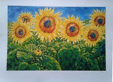 Sunflowers Near Luçon, Vendée. Peter Reading (d) local artist
