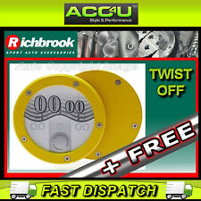 Richbrook Yellow Twist Off Back Car Tax Disc Holder+FRE