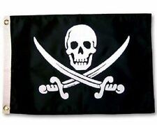 5x8 ft Jolly Roger Calico Jack Pirate Flag Rough Tex Knitted 5'x8' banner