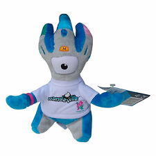 OLYMPICS London 2012 Mandeville Silver Blue Weighted Plush Toy Memorabilia 20 cm