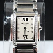 PATEK PHILIPPE TWENTY 4 DIAMONDS STEEL LADIES WATCH BOX 4910/10A-011