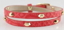 Authentic Stella & Dot 'Hudson' Red Leather Wrap Bracelet-RV $39- BNWOT