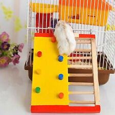 Natural Wooden Colorful Funny Climbing Ladder Molar Toy for Pet Rat Hamsters