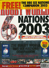 RUGBY WORLD MAGAZINE March 2003 England Grand Slam & Six Nations