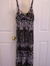 No Boundaries Women's Dress M (7-9) Maxi Sleeveless Multi- Color 100% Polyester