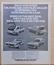 1972 magazine ad for American Motors - 1972 Sportabout, Gremlin, Hornet, Javelin