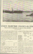76 ROUEN UNION MARITIME FRANCE-ALGERIE PORT IMPORTATION DE VINS LAGARDE 1923