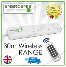 E2A ENERGENIE ECO 4 Way Gang REMOTE CONTROL SOCKETS Extension Lead Wireless PLUG