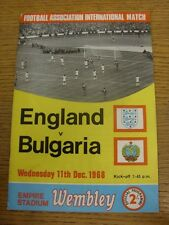 11/12/1968 England v Bulgaria [At Wembley] (slight marked). Thanks for viewing t