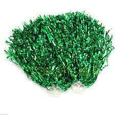 One Pair Green Pom Poms Cheerleader Cheerleading Cheer Dance Party Decorations