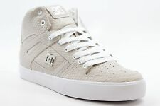 New DC SHOES Mens Spartan High WC LX 2 Skate Shoes Size 9 Off White Leather BW1