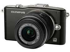 Olympus PEN E-PM1 12.3 MP Digital Camera - Black (Kit w/ II R 14-42mm Lens)