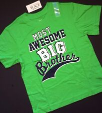 """NEW! """"Most Awesome BIG Brother"""" Boys Shirt 4 5-6 7-8 10-12 14 Gift! Green SS"""
