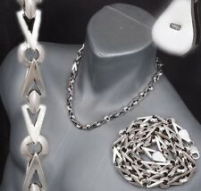 """98g 20"""" BIG HEAVY TRIANGLE BARAKA 925 STERLING SOLID SILVER MENS NECKLACE CHAIN"""