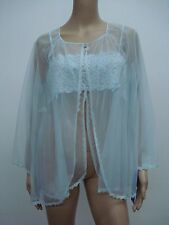 USA Made Nancy King Lingerie Baby Doll Top & Jacket Pajamas 3X Blue #466N